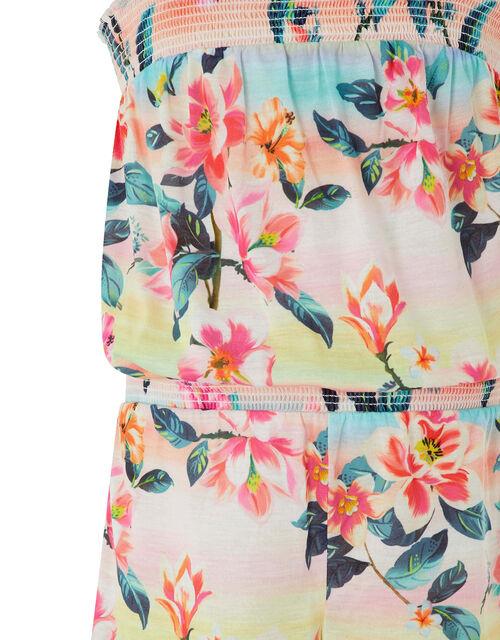 Serena Tropical Floral Active Playsuit, Multi (MULTI), large