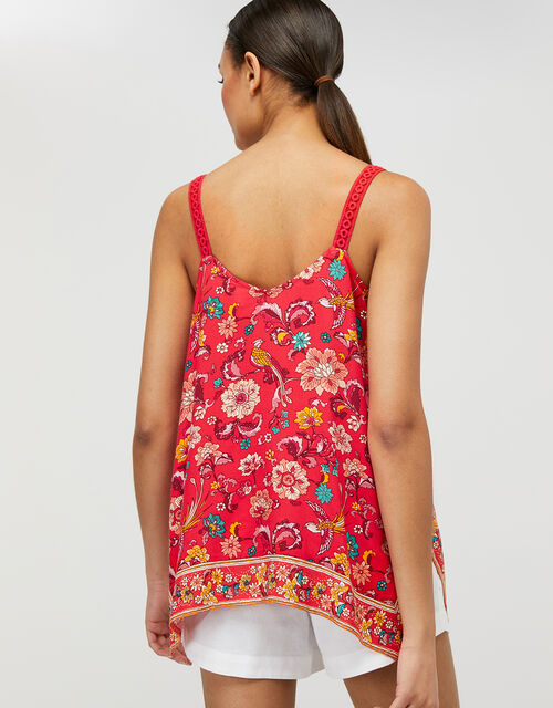 Lauren Printed Cami Top in LENZING™ ECOVERO™, Red (RED), large