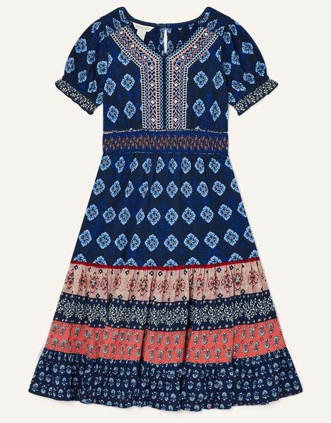 MINI ME Fern Printed Dress Blue, Blue (BLUE), large
