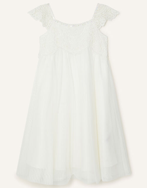 Estella Sequin Dress, Ivory (IVORY), large