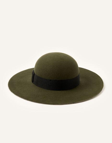 Floppy Beaded Trim Hat, , large