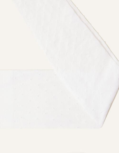 Bridal Spot Tights, White (WHITE), large