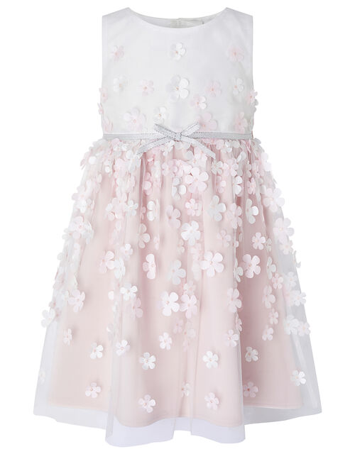 Baby 3D Floral Dress, Ivory (IVORY), large