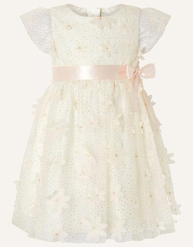 Baby Sweet Petal Flower Dress Ivory, Ivory (IVORY), large