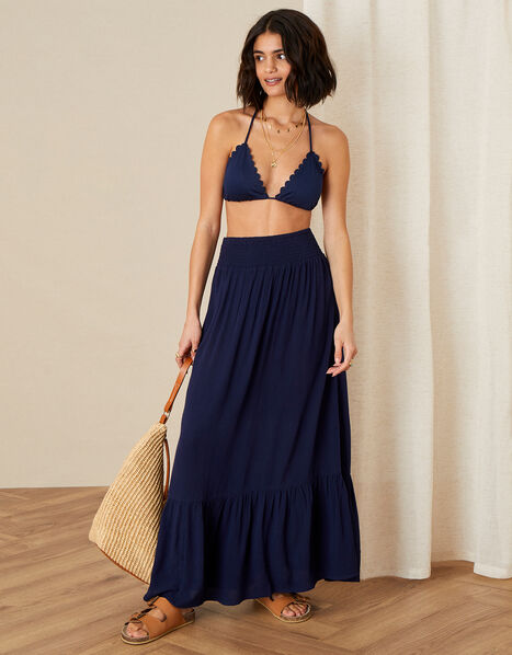 Maxi Beach Skirt Blue, Blue (NAVY), large
