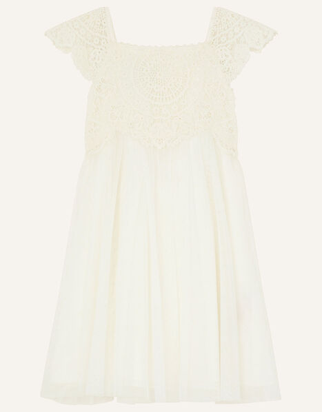Baby Estella Dress Ivory, Ivory (IVORY), large