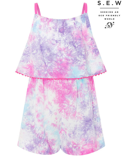 Tie-Dye Playsuit in LENZING™ ECOVERO™, Multi (MULTI), large