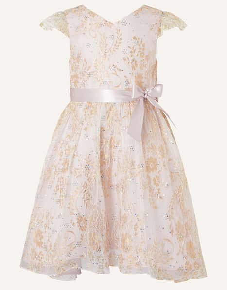 Sparkle Lace Dress  Pink, Pink (PINK), large