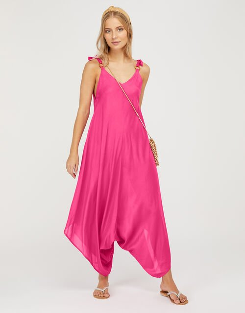 Relaxed Romper in LENZING™ ECOVERO™, Pink (PINK), large