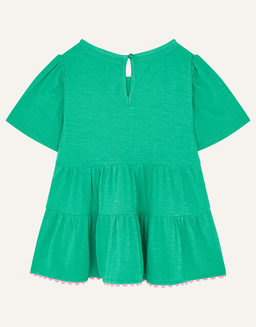 Sequin Pineapple Tiered Top, Green (GREEN), large