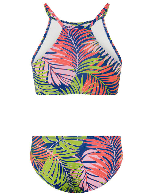 Storm Palm Print Bikini, Blue (BLUE), large