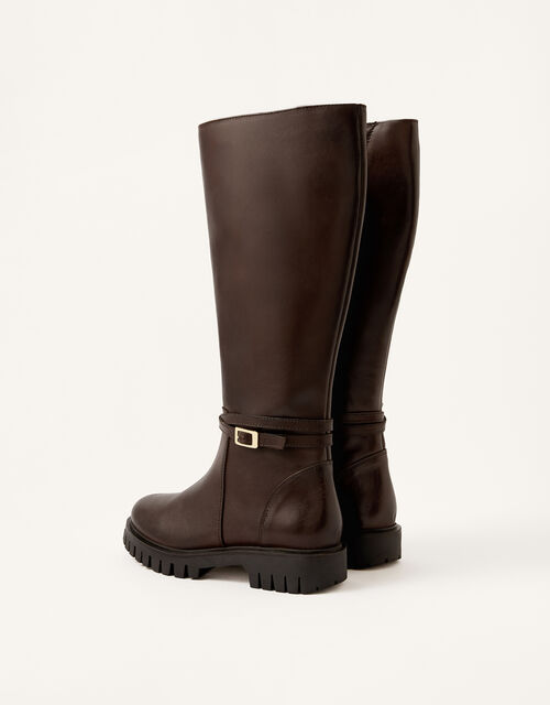 Sadie Leather Riding Boots, Brown (CHOCOLATE), large