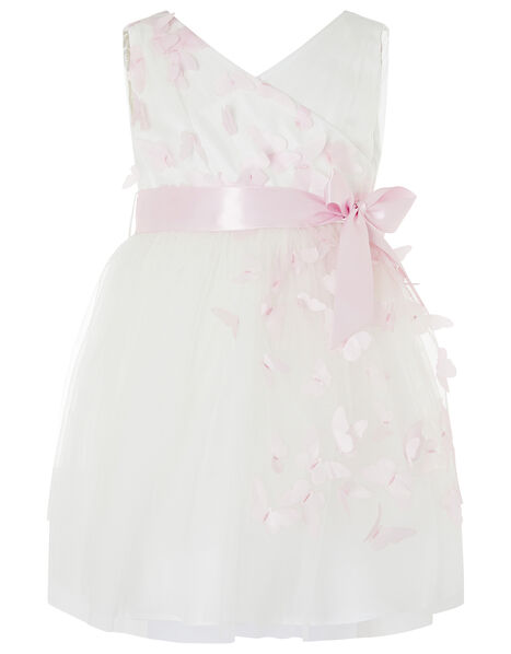 Baby 3D Butterfly Dress Ivory, Ivory (IVORY), large