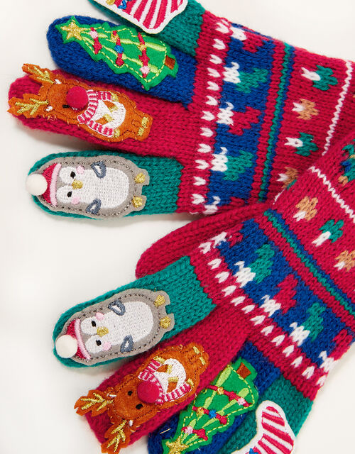 Christmas Party Gloves, Multi (MULTI), large