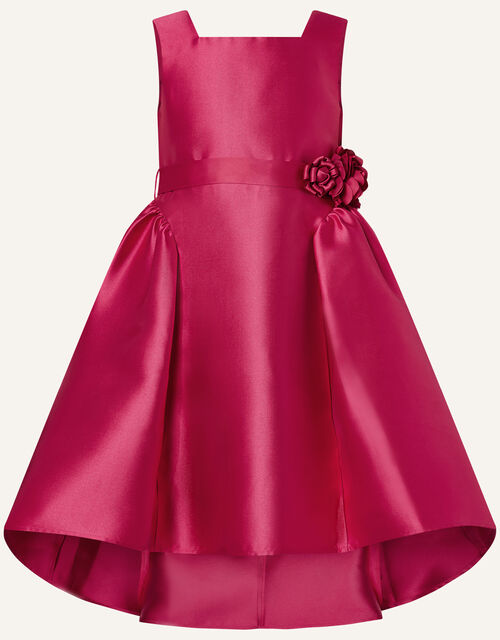 Cynthia Corsage Belt Dress, Red (RED), large