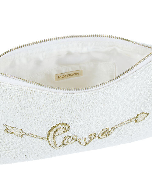Lulu Love Bead-Embellished Bridal Pouch, , large