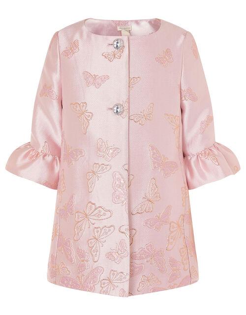 Shimmer Butterfly Jacquard Jacket, Pink (PINK), large