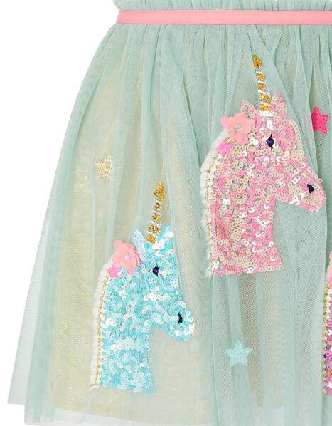 Unicorn Disco Dress Blue, Blue (AQUA), large