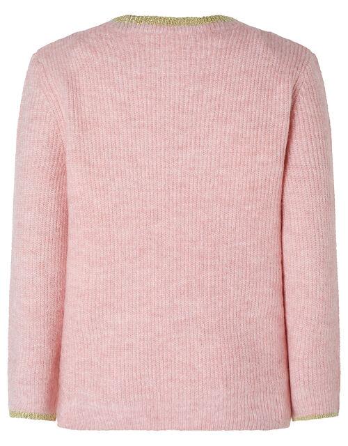 Sequin Star Knit Jumper, Pink (PINK), large