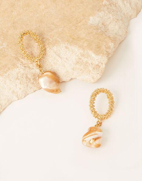 Stone Drop Earrings, , large