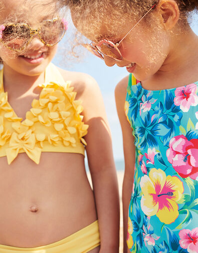 3D Flower Bikini Set Yellow, Yellow (YELLOW), large