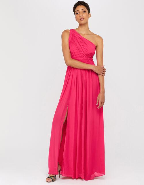 Dani One Shoulder Maxi Dress, Pink (PINK), large