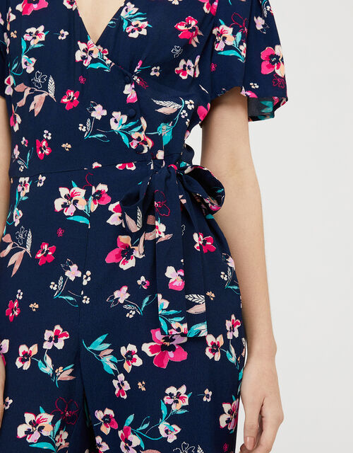 Maisy Floral Jumpsuit with LENZING™ ECOVERO™, Blue (NAVY), large