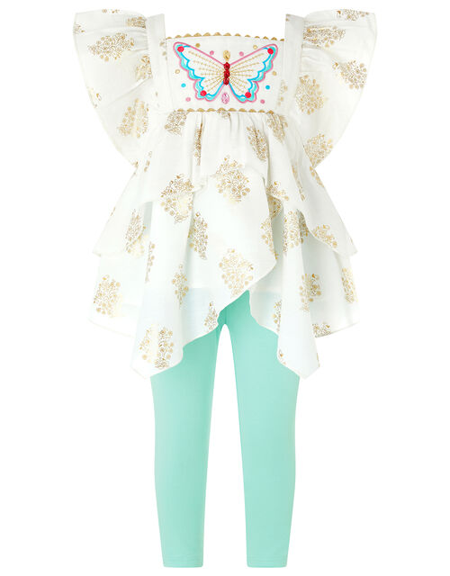 Baby Tansy Butterfly Set in Recycled Fabric, Ivory (IVORY), large
