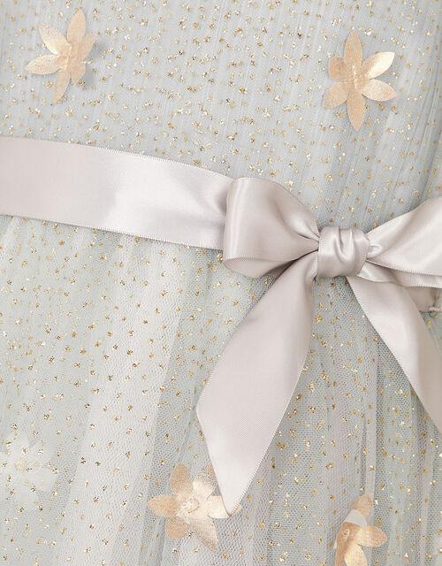 3D Petal Glitter Dress, Grey (GREY), large