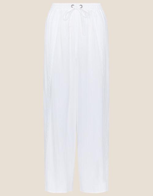 Split Wide Leg Beach Trousers, Ivory (IVORY), large