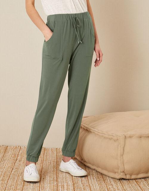 LOUNGE Kimberley Jersey Hareem Trousers, Green (KHAKI), large