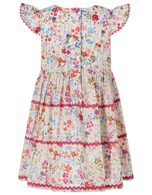 Baby Constance Ditsy Floral Dress, Ivory (IVORY), large