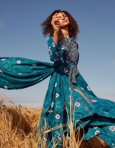 ARTISAN STUDIO Bandini Printed Dress Teal, Teal (TEAL), large