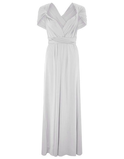 Monsoon- Multiway Maxi Dress , Silver (SILVER), large