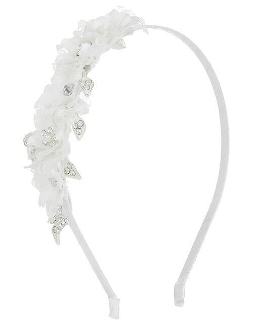 Lorna Lacey Floral Headband with Diamantes, , large