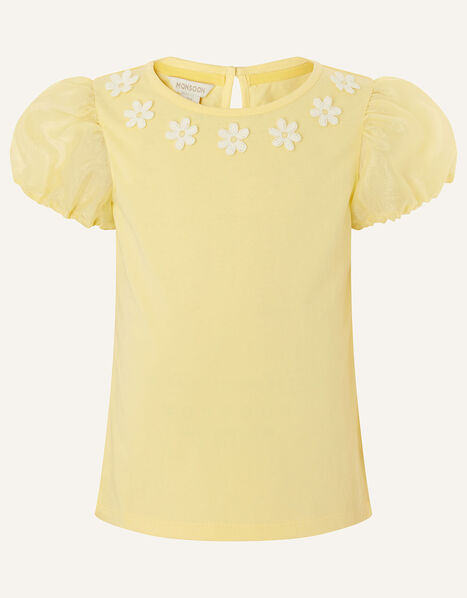 Daisy Organza Top  Yellow, Yellow (YELLOW), large