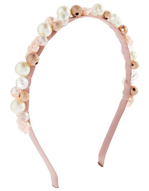 Mixed Pearl Flower Headband, , large