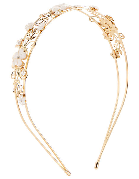 Valeria Gold Filigree Headband , , large