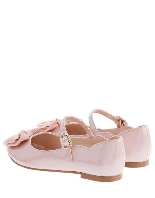 Kali Bow Patent Ballerina Flats, Pink (PINK), large