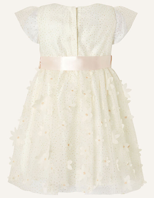 Baby Sweet Petal Flower Dress, Ivory (IVORY), large