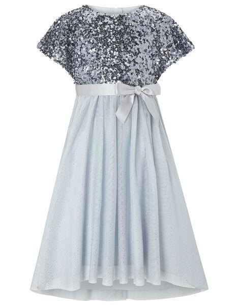 Truth Sequin Sparkle Maxi Dress Blue, Blue (BLUE), large
