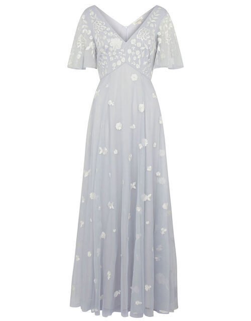 Kaitlyn Embroidered Maxi Dress, Blue (BLUE), large