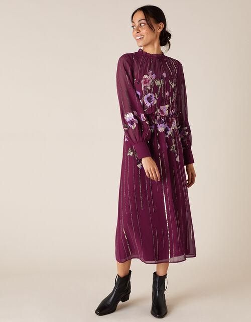 Renata Embellished Maxi Dress, Red (BERRY), large