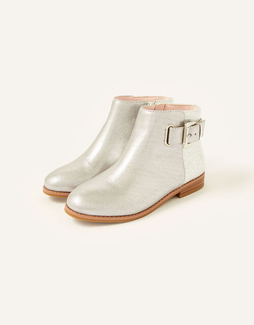 Shimmer Ankle Boots , Silver (SILVER), large