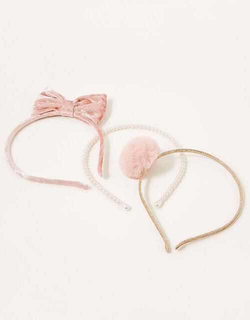 Pearly Velvet Headband Set, , large