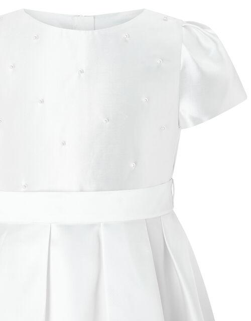 Henrietta Pearl Embellished Dress , White (WHITE), large