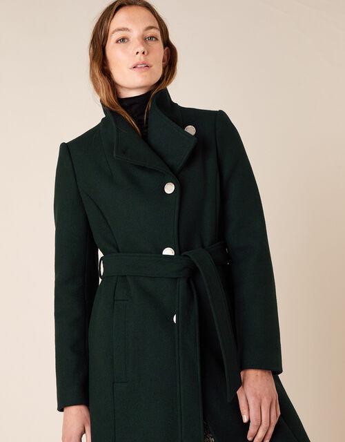 Ruby Long Coat, Green (GREEN), large