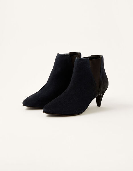 Serenity Suede Point Ankle Boots Blue, Blue (NAVY), large