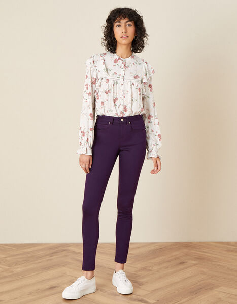 Nadine Regular-Length Skinny Jeans Purple, Purple (PURPLE), large
