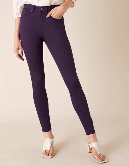 Nadine Regular Length Jeans with Organic Cotton, Purple (PLUM), large